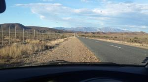 Early morning on Route 62 between Ladismith and Barrydale.
